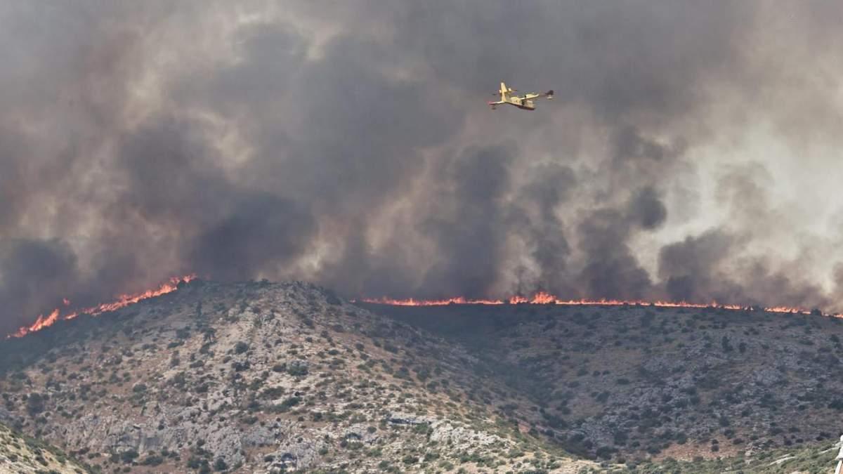 Масштабные лесные пожары добрались до Хорватии: видео