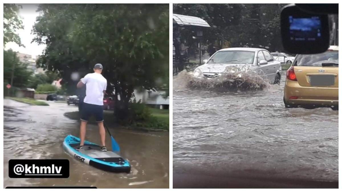 Потужна злива затопила Хмельницький 4 серпня 2021: відео