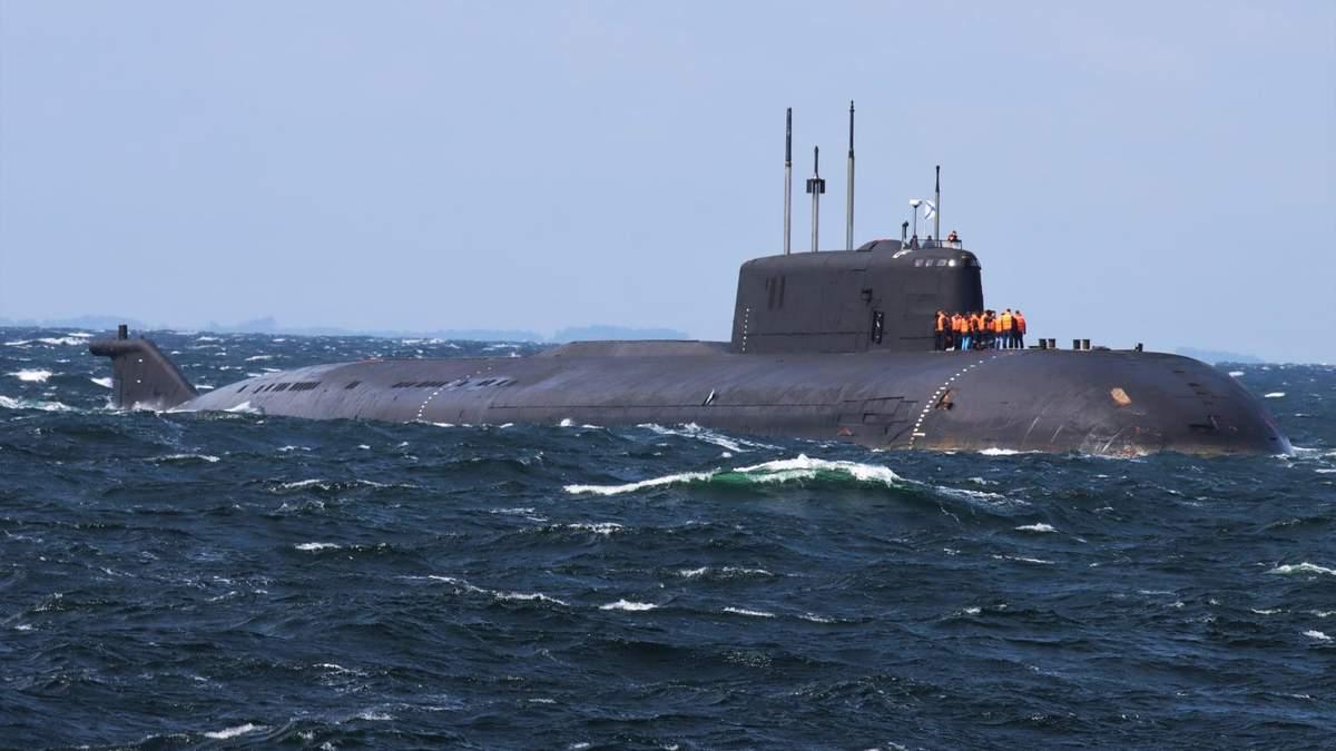 Атомний підводний човен Росії втратив хід біля узбережжя Данії