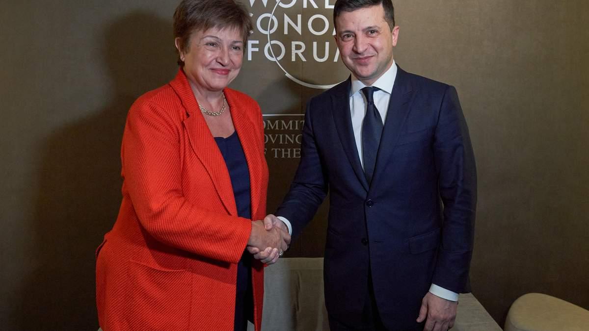 Владимир Зеленский и директор-распорядитель МВФ Кристалина Георгиева