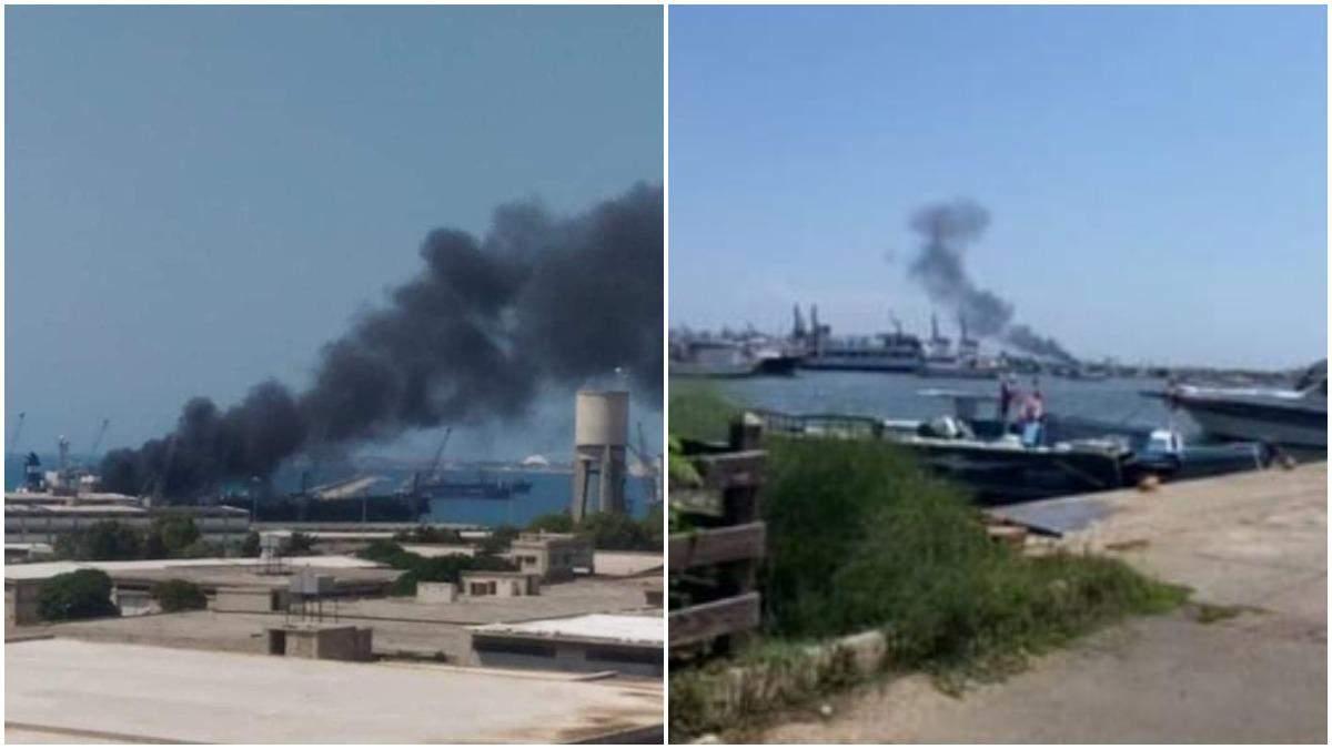 В порту Сирии на танкере произошел взрыв: есть пострадавшие - видео
