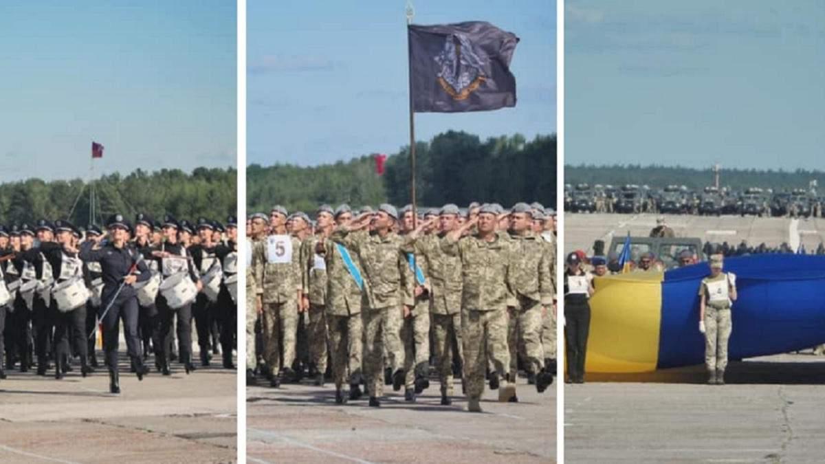 Міноборони показало репетицію параду до Дня Незалежності: фото, відео