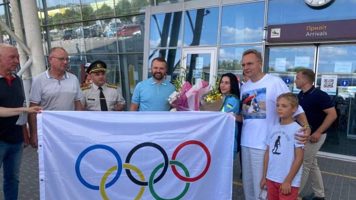 У Львові зустріли срібну призерку Олімпіади Олену Старікову: фото