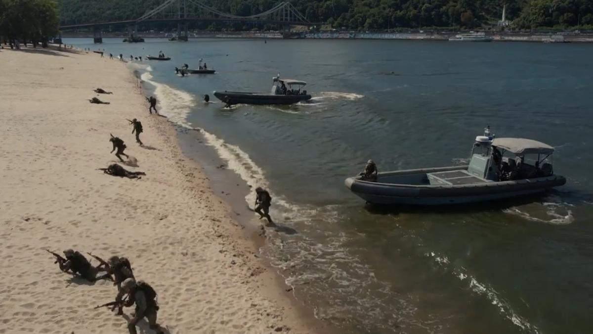 У Києві показали відео репетиції річкового параду до Дня незалежності - Новини Києва - Київ