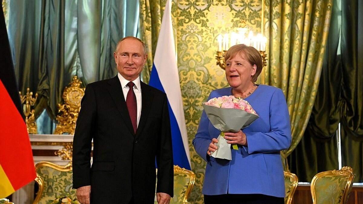 Путин призвал Меркель нажать на Киев в вопросе Донбасса - Новости России - 24 Канал
