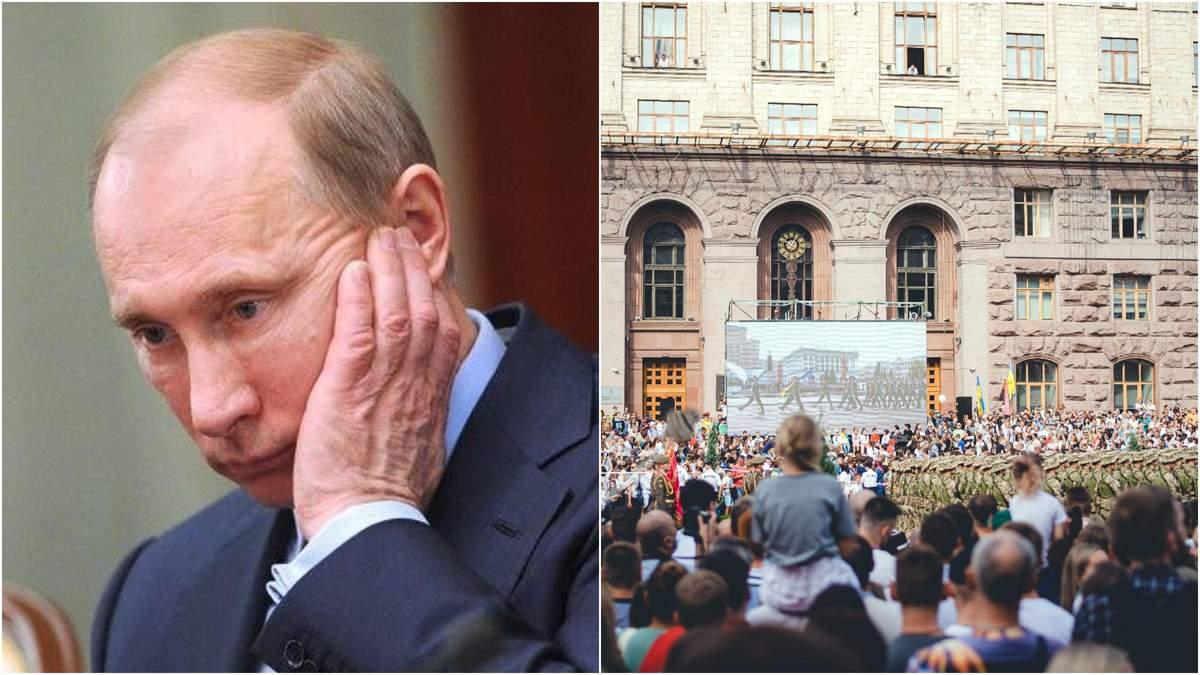Путіна не потішили: парад Незалежності вразив навіть хейтерів Зеленського - Росія новини - 24 Канал