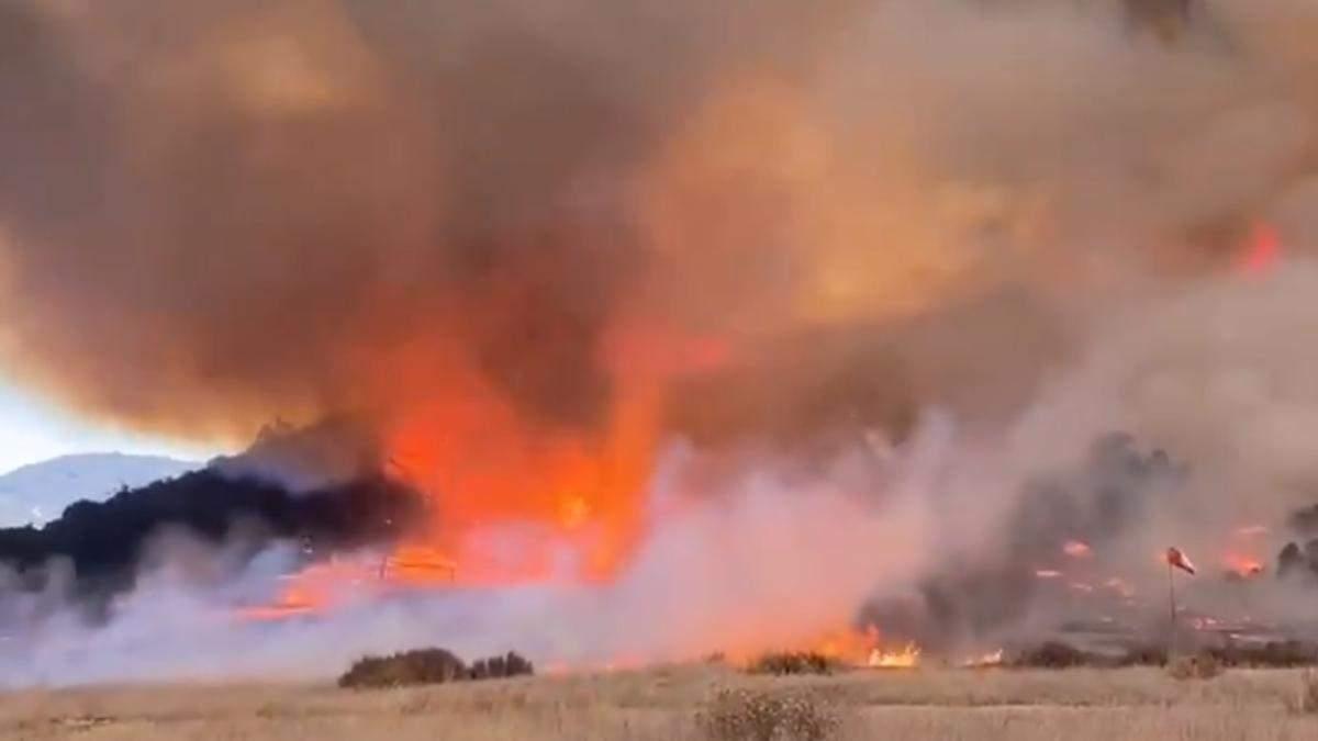 Пламенный столб: в Калифорнии зафиксировали на видео огненный смерч