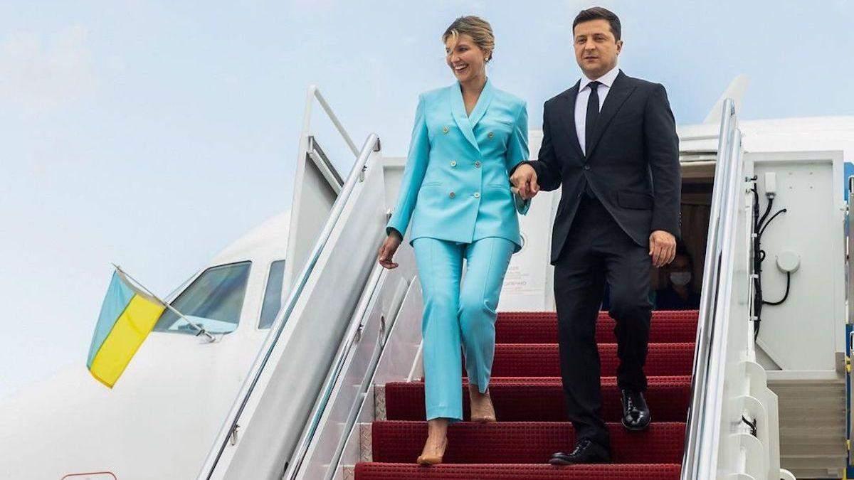Володимир та Олена Зеленські прибули до США: перші фото