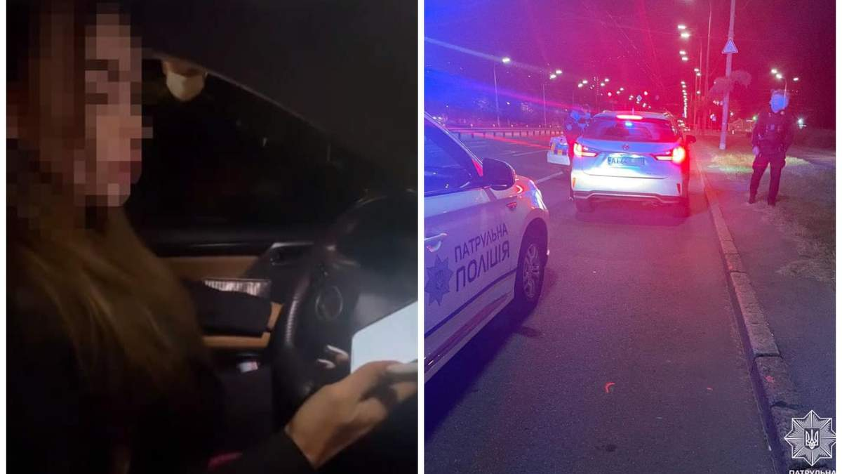 """""""Та мені взагалі по**й"""": у Києві блогерка на Lexus порушила правила і втікала від поліції - Новини кримінал - Київ"""