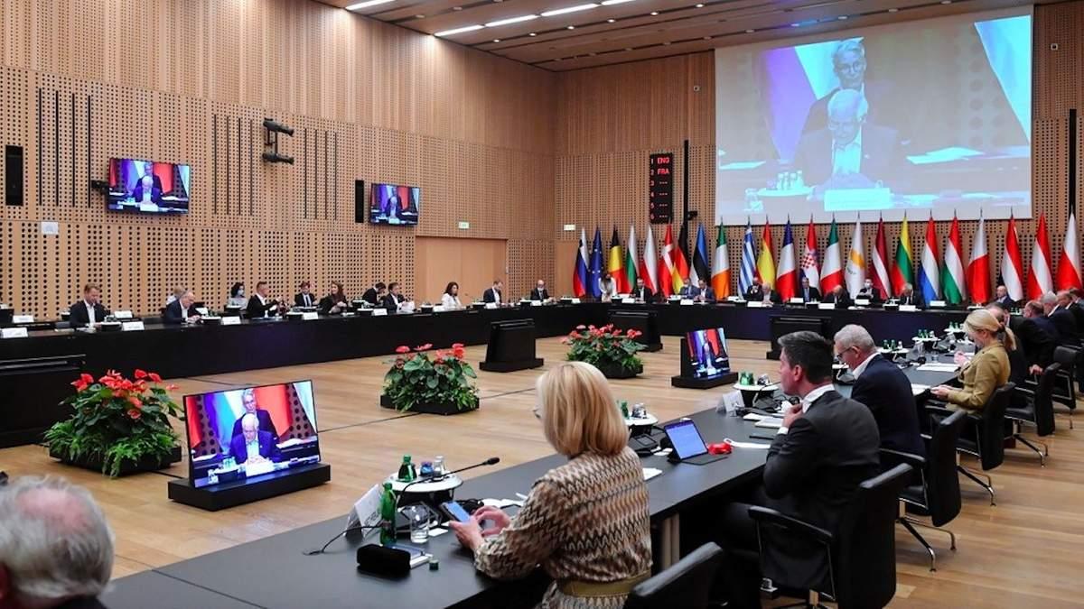 Зустріч міністрів закордонних справ ЄС у словенському Брдо
