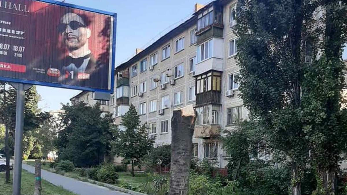 Аби не закривали рекламу: у Києві невідомі зрізали молоді дерева - Київ