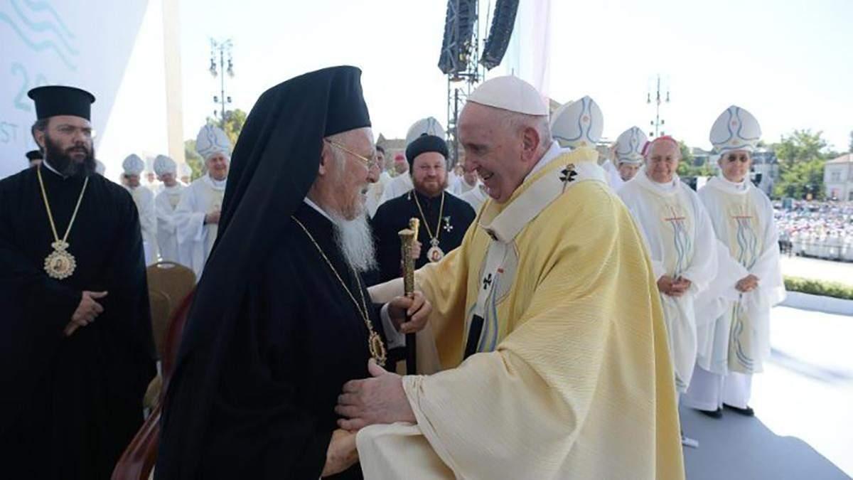Історична подія: Папа Римський Франциск зустрівся зі Вселенським патріархом Варфоломієм - 24 Канал