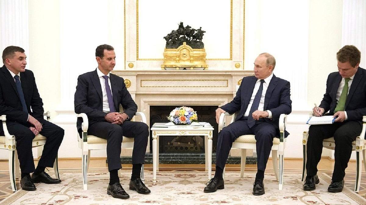 Зустріч диктаторів: Путін з Асадом у Москві обговорили війну в Сирії - 24 Канал