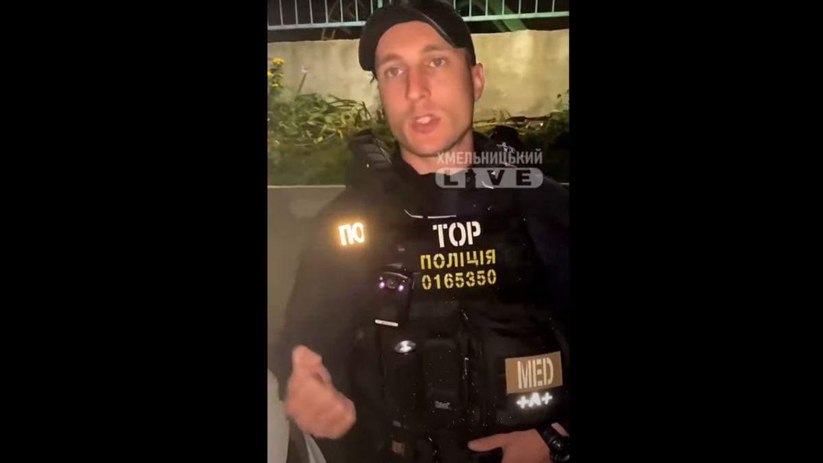 Де в законі написано таке, – у Хмельницькому патрульний відмовлявся спілкуватися українською - Україна новини - 24 Канал