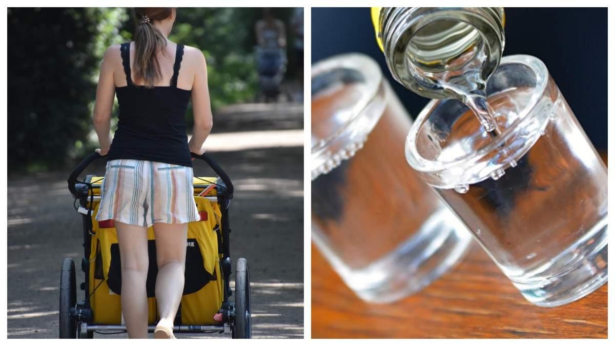 Была так пьяна, что вызвали скорую: горе-мать гуляла с младенцем в Каховке