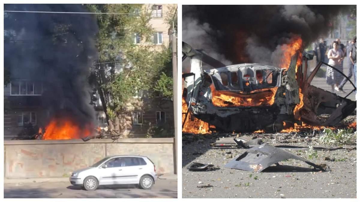 Від ударної хвилі вибило вікна: у Дніпрі вибухнула і загорілась автівка - Україна новини - 24 Канал