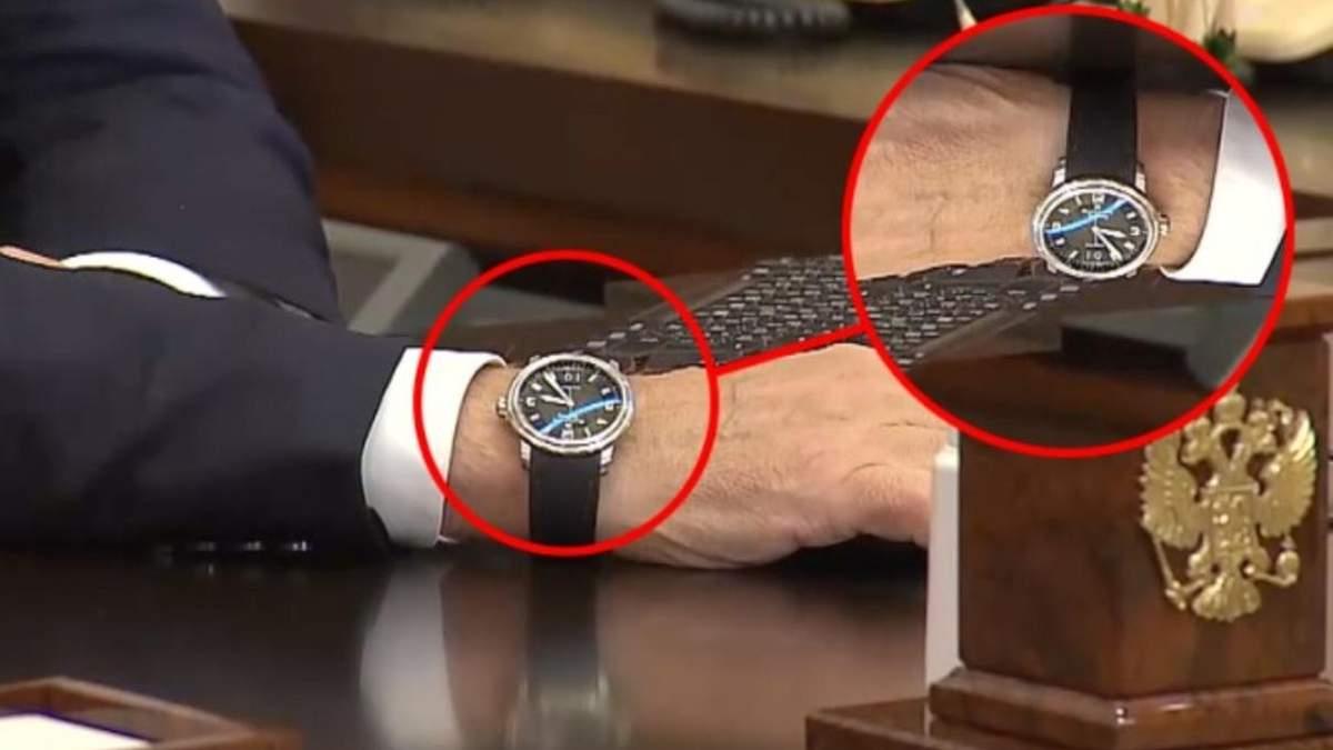 """""""Він на неї не дивиться"""": у Путіна прокоментували """"неправильну"""" дату на його годиннику - Новини росії - 24 Канал"""