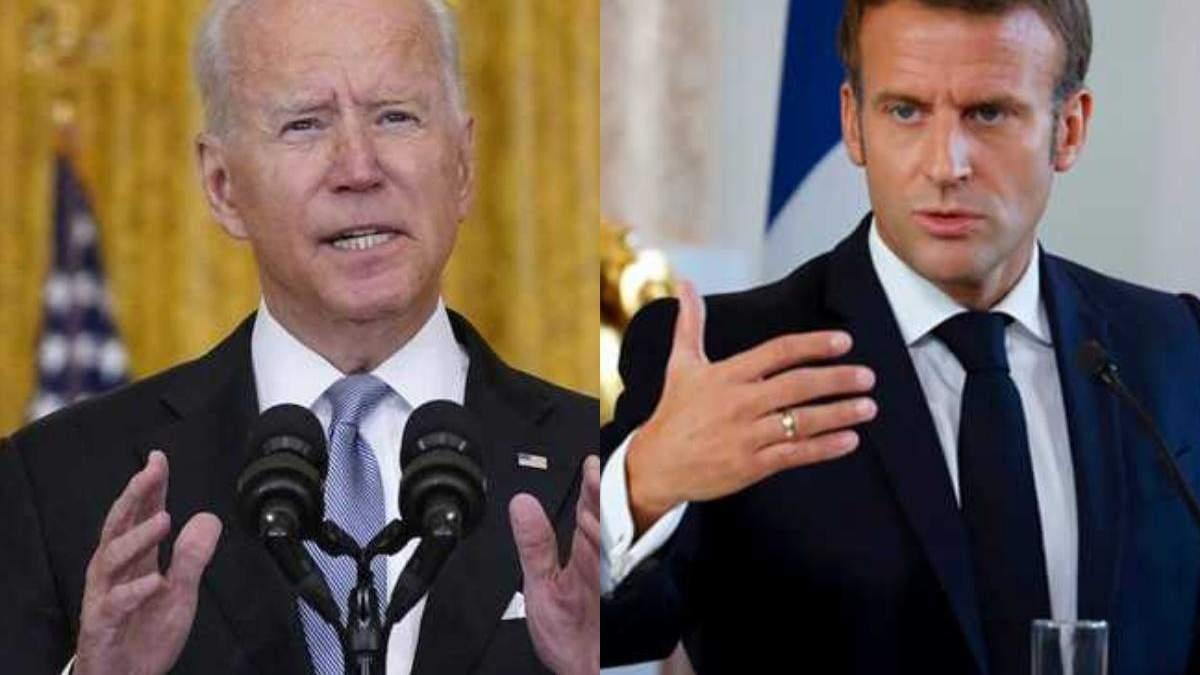 Байден зателефонує Макрону: США не відмовляться від угоди з Австралією на тлі скандалу - 24 Канал