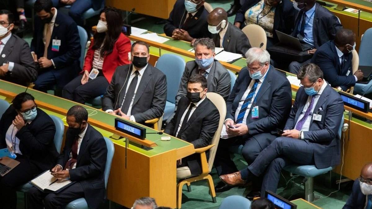 Зеленський взяв участь у відкритті 76-ї сесії Генасамблеї ООН: з ким встиг зустрітись - 24 Канал