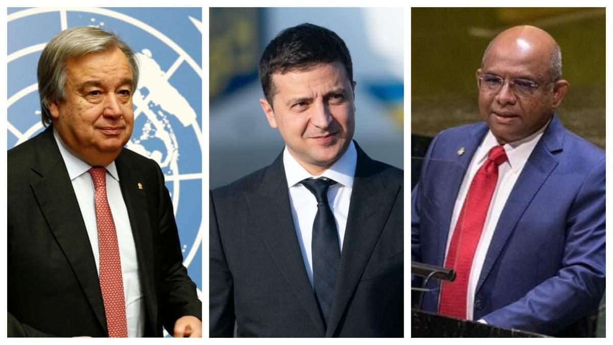 Зеленский в США пообщался с генсеком ООН и председателем Генассамблеи - Горячие новости - 24 Канал