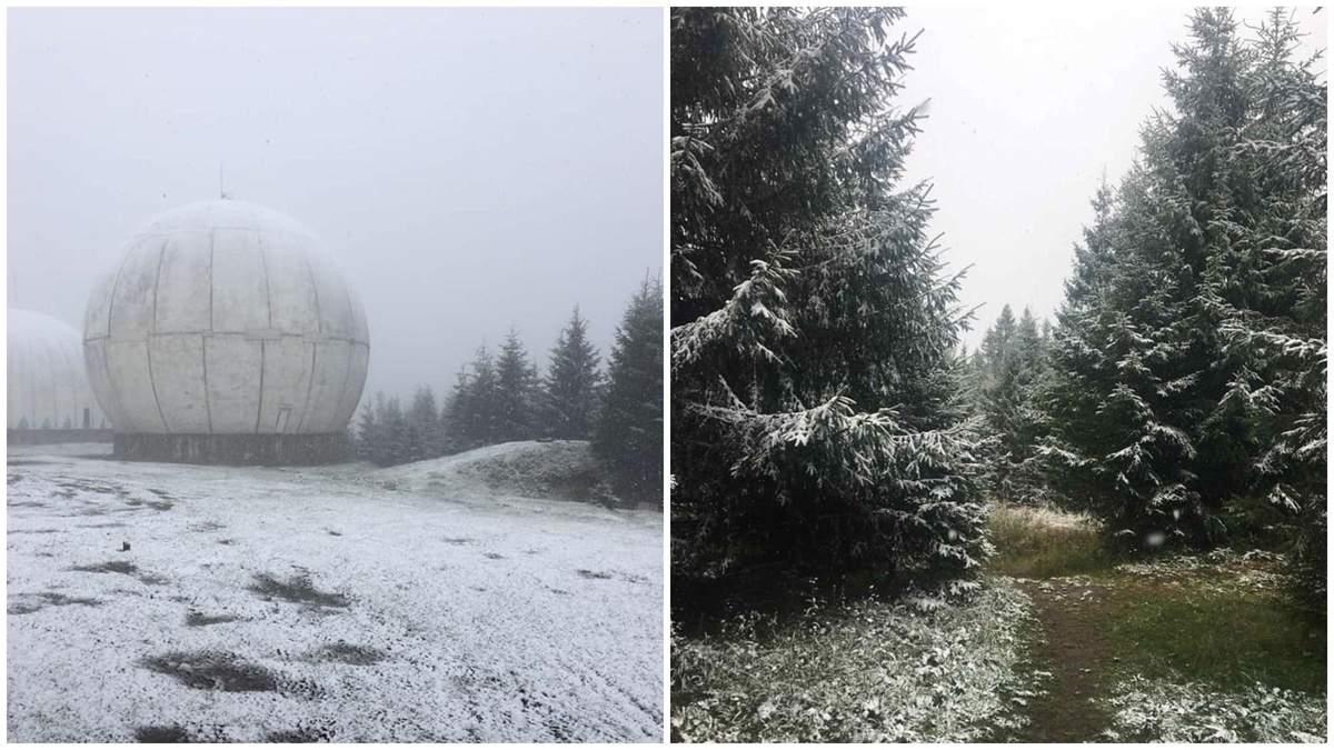У горах на Буковині випав сніг: мандрівниця поділилася мальовничими кадрами - Україна новини - 24 Канал