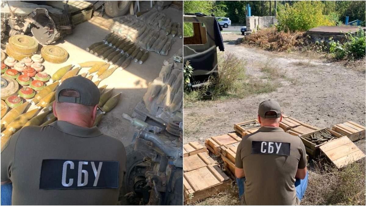 СБУ ліквідувала одразу 3 арсенали зброї бойовиків на Донбасі: фото боєприпасів - Україна новини - 24 Канал