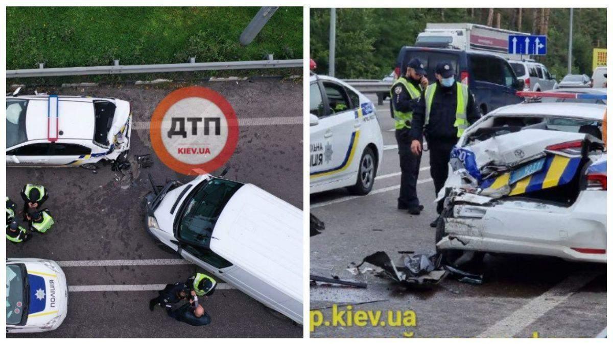 Під Києвом п'яний водій влетів у новеньке авто поліції: патрульного аж відкинуло - Київ