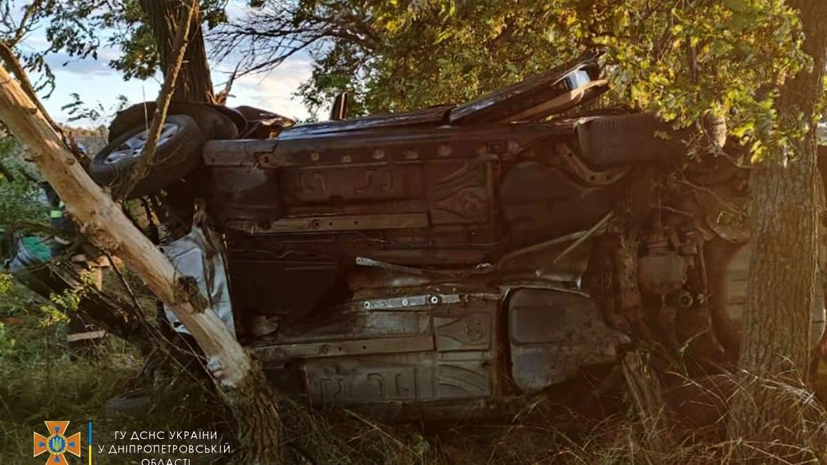 Машину смяло после столкновения с деревом: смертельное ДТП на Днепропетровщине