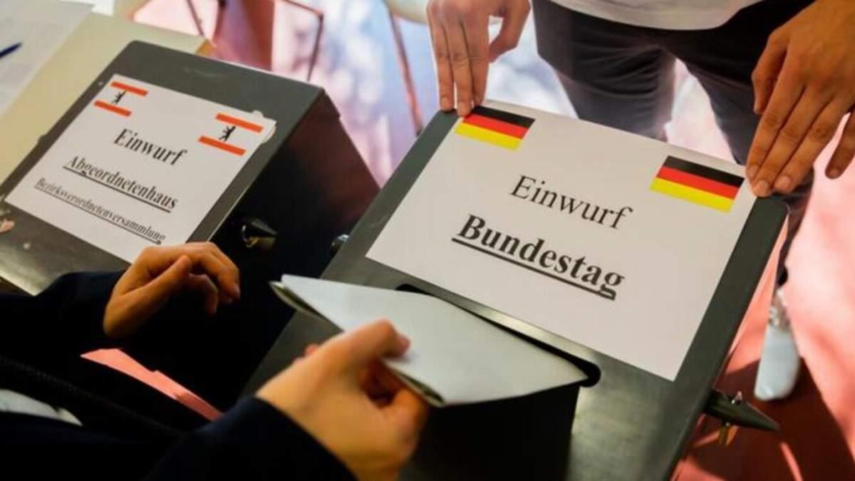 Результати виборів у Бундестаг в Німеччині