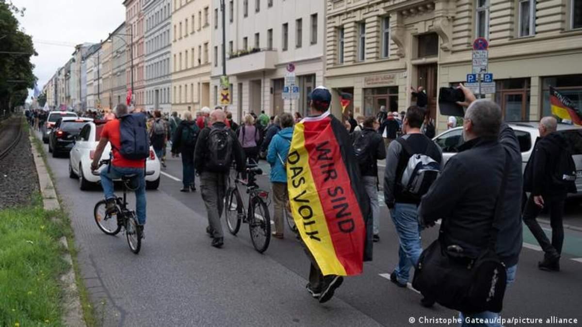 """""""Вони можуть розділити країну"""": у Німеччині стурбовані через радикальних коронаскептиків - 24 Канал"""