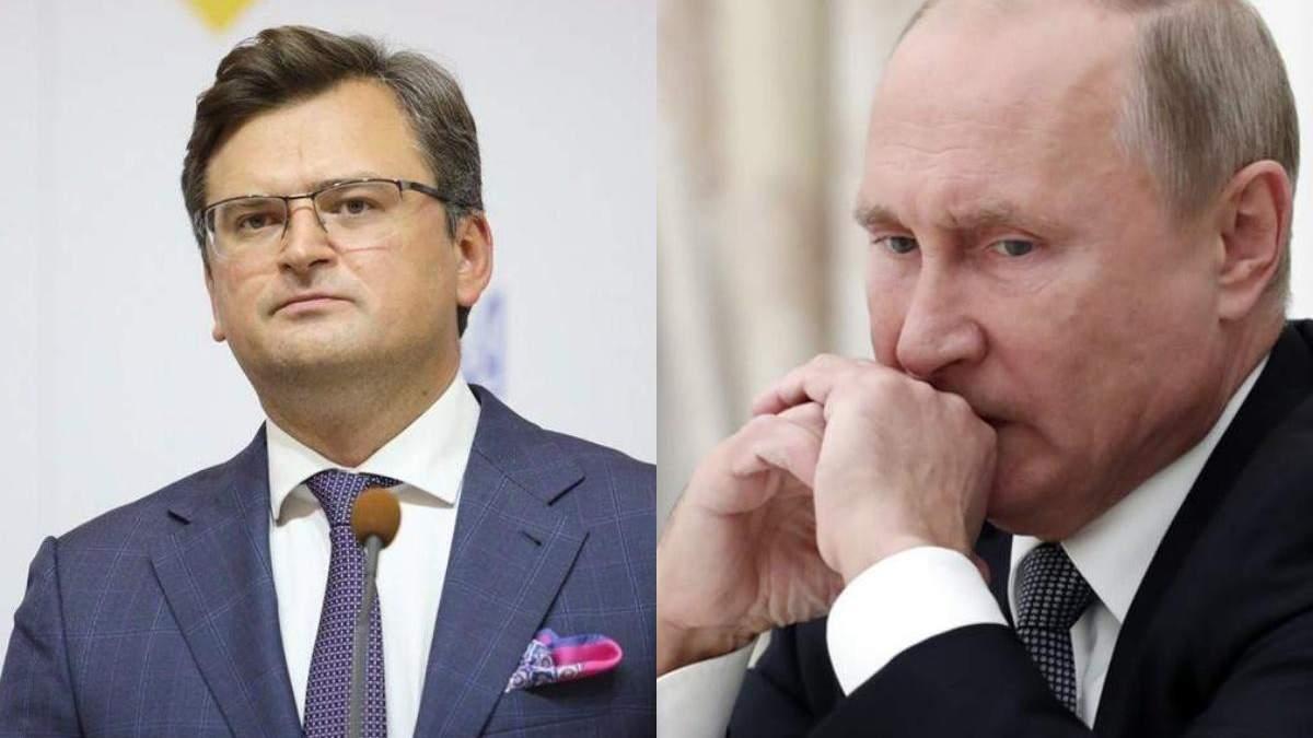 """Кулеба різко відповів Путіну на слова про перетин """"червоних ліній"""" через прихід НАТО - Новини Росії і України - 24 Канал"""