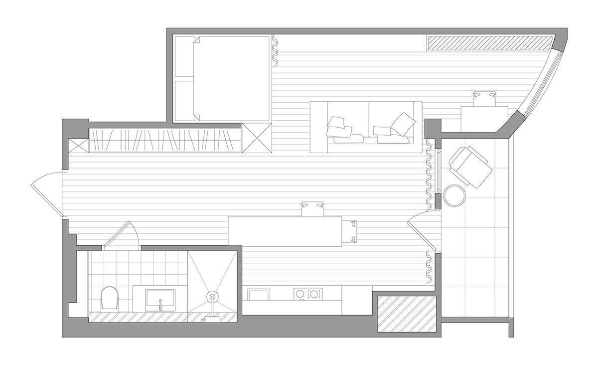 Квартира площею 43 метри квадратних
