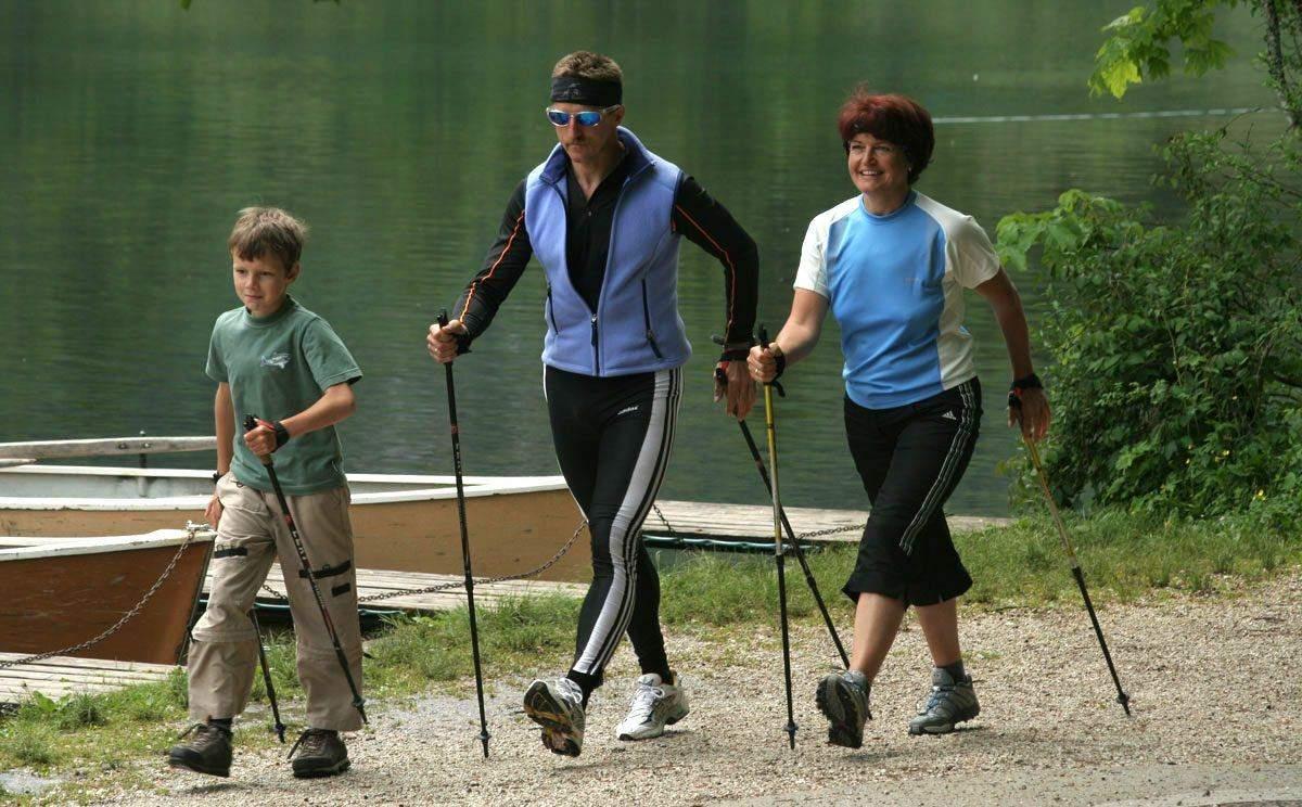 Приятно заниматься спортом всей семьей