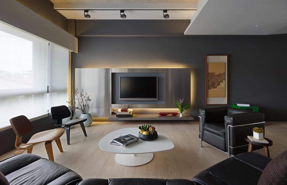 Стіна з телевізором