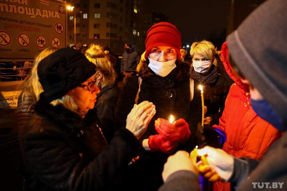 Вшанування пам'яті Бондаренка у мінську
