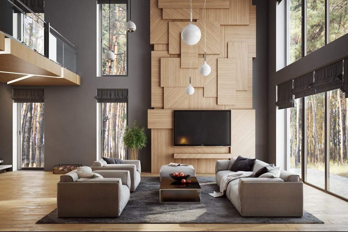 Стіна за телевізором