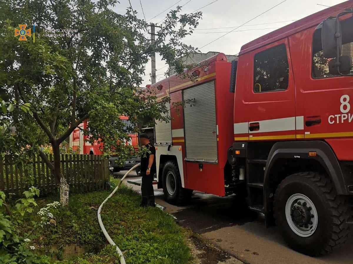 На Львівщині посеред дороги вщент згорів пасажирський автобус: фото