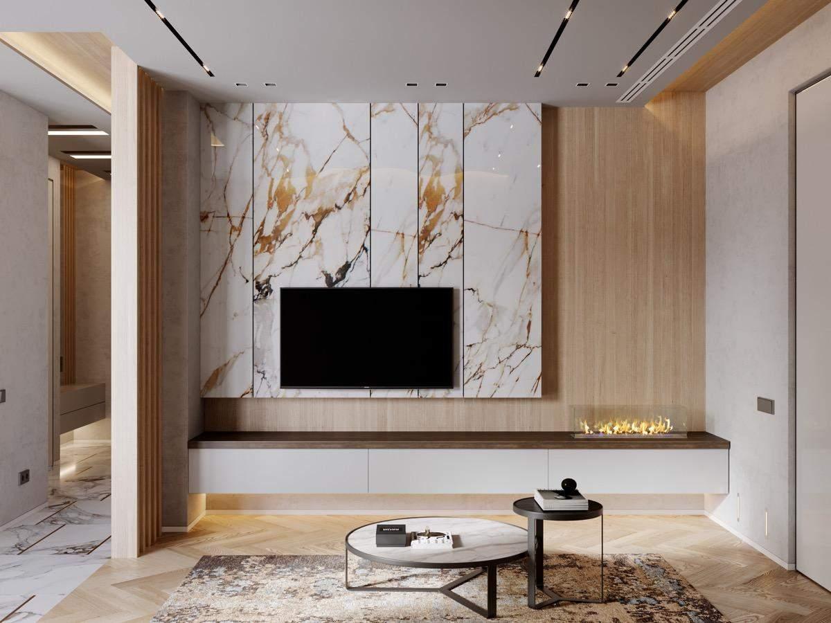 Стіна з телевізором: сучасні ідеї