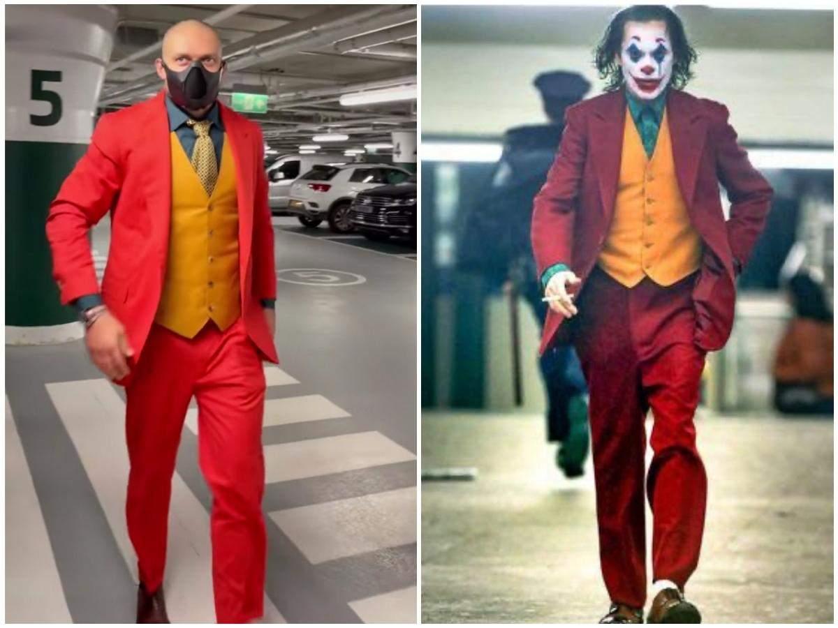 Олександр Усик в образі Джокера