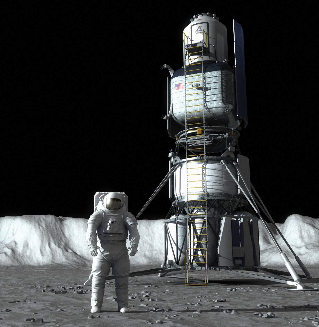 Moon Lander Jeff Bezos Blue Origin