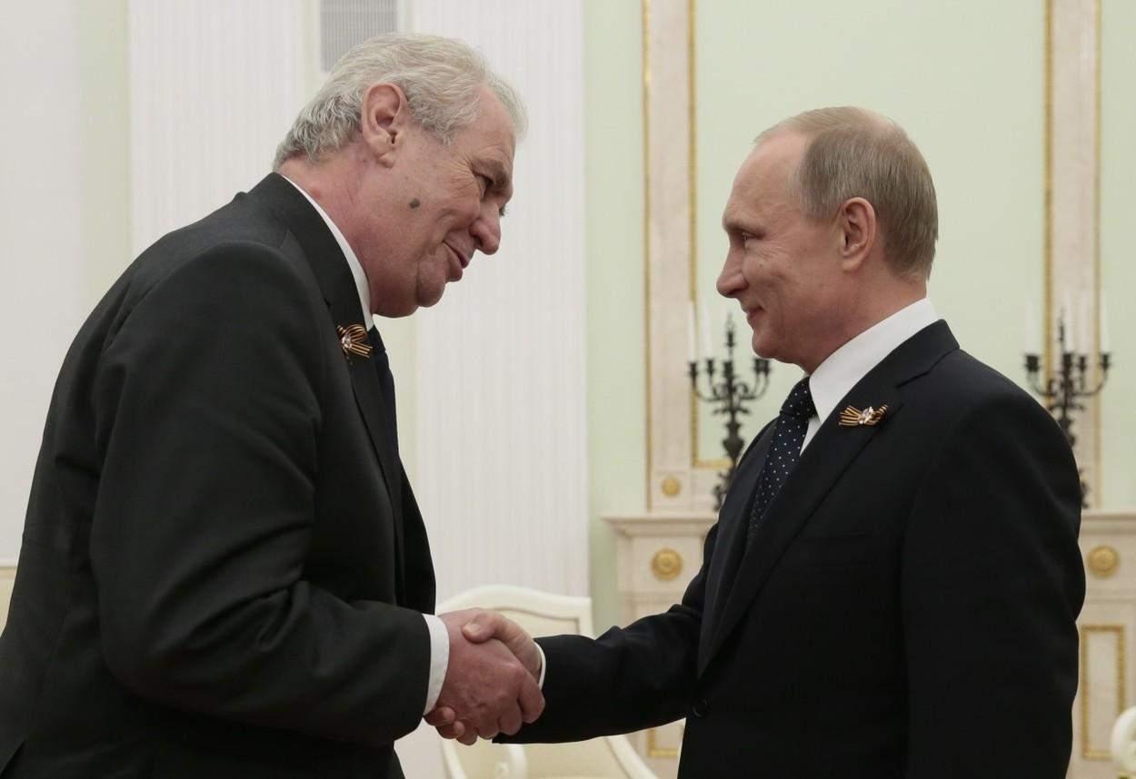 Путін і президент Чехії