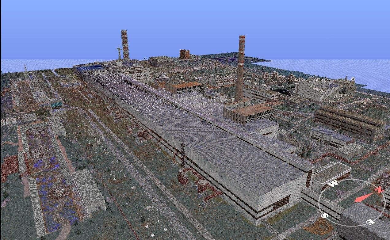 Геймер відтворив Чорнобиль у грі Minecraft