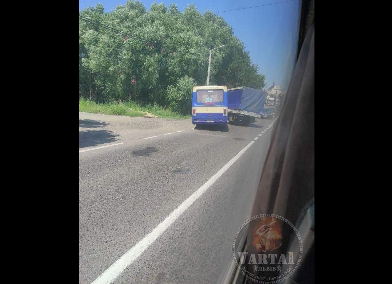Біля Львова маршрутка влетіла у вантажівку: фото і відео