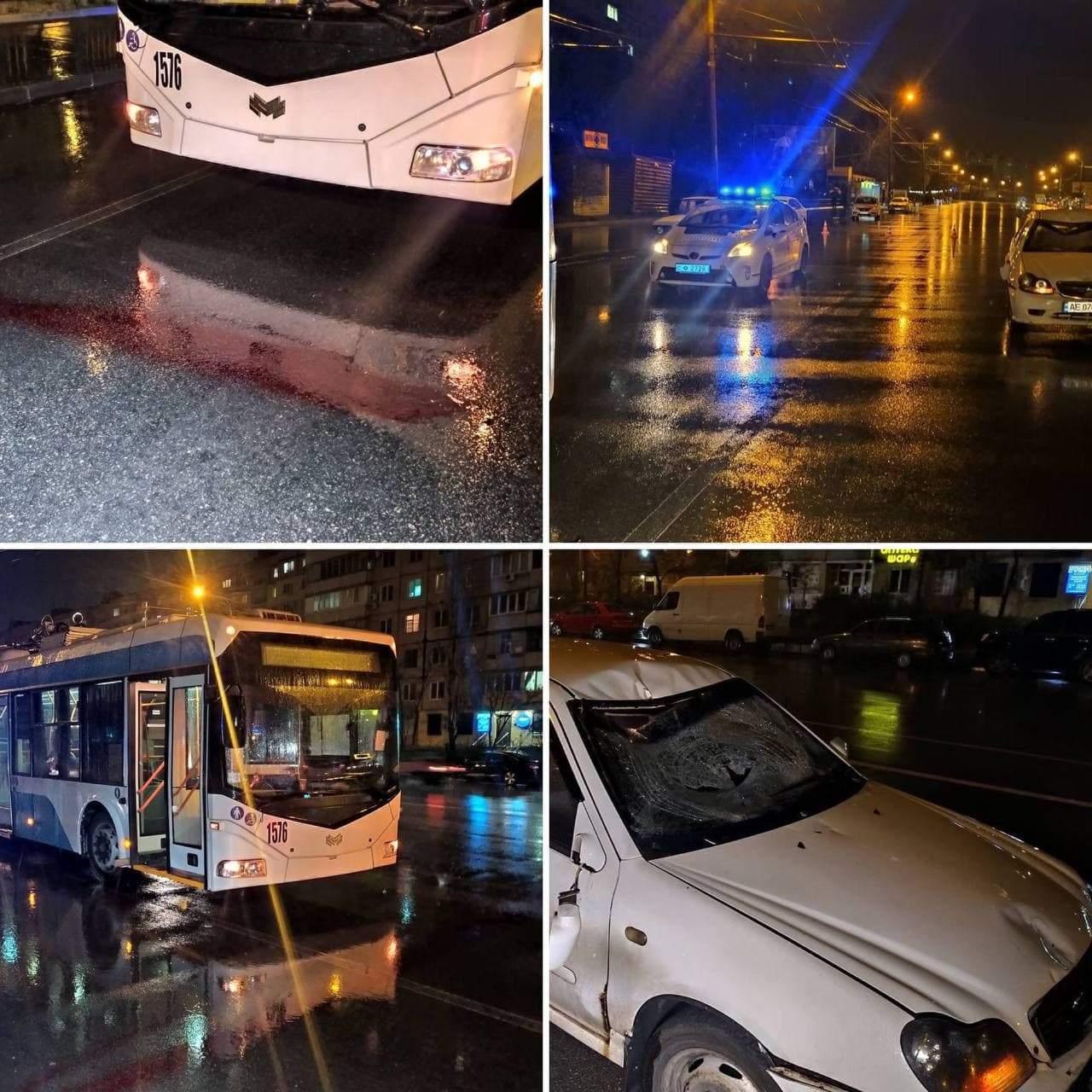 Аварія Тролейбус Дніпро Пішохід ДТП