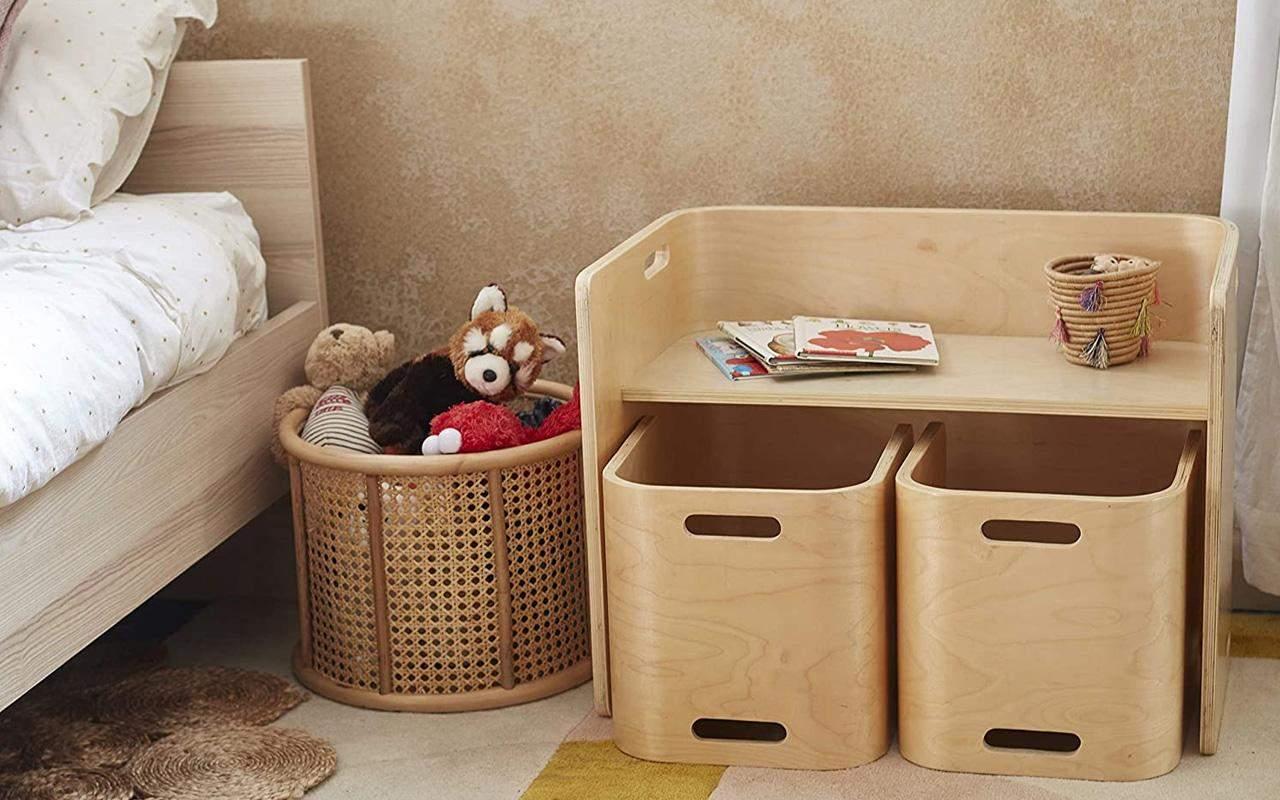 Кошики для зберігання в дитячих кімнатах