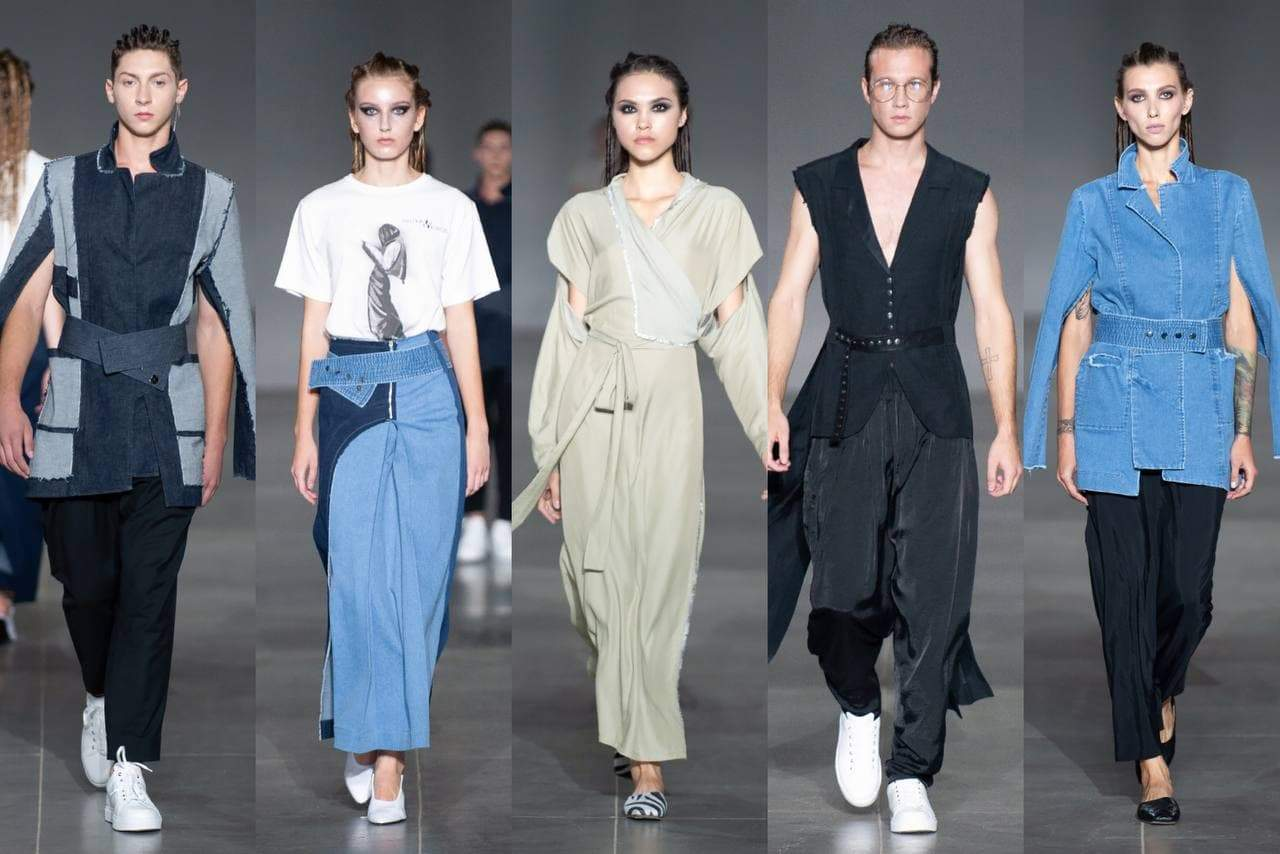 Дефиле моделей на показе бренда Juliya Kros