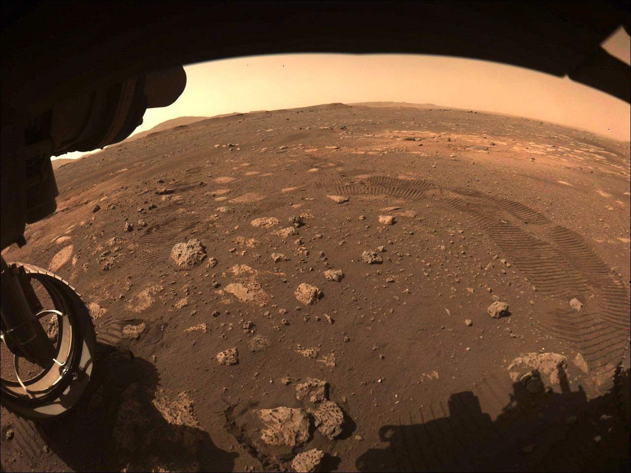 Сліди Perseverance на Марсі