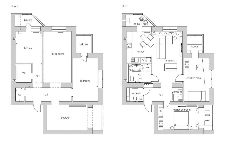 Компактні апартаменти в пастельно-блакитному кольорі