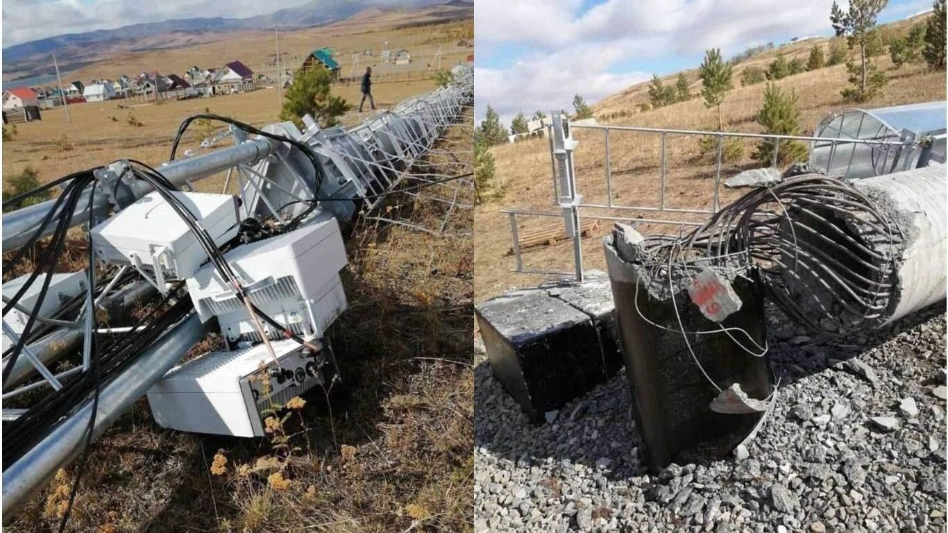 У Росії селяни повалили вежу стільникового зв'язку