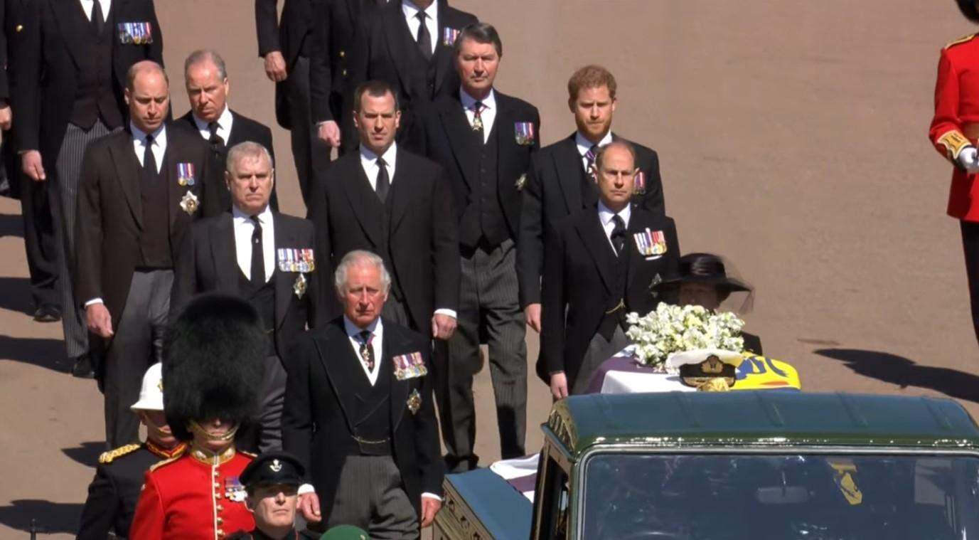 Принц Гаррі на похороні Філіпа